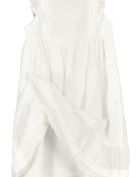Robe en coton fille FAPOROB6EX / 19S901C8ROB000
