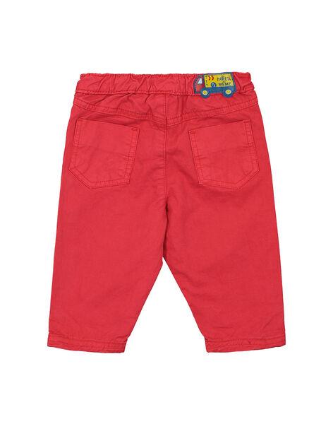 Pantalon rouge bébé garçon FUJOPAN1 / 19SG1031PANF505