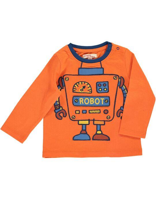 Tee Shirt Manches Longues Orange DUBLETEE2 / 18WG1092TMLF519
