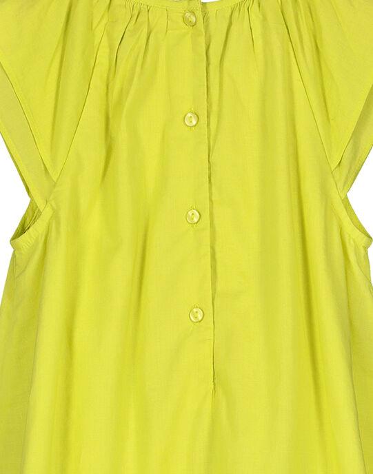 Robe en coton fille FAPOROB3 / 19S901C3ROB605