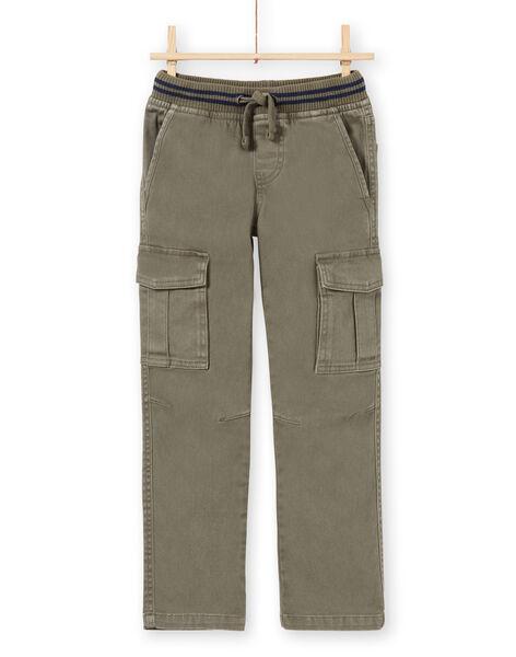 Pantalon kaki enfant garçon MOJOPAMAT2 / 21W90224PANG631