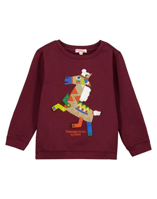 Sweat Shirt Bordeaux Ludique GOVIOSWE / 19W902R1SWM711