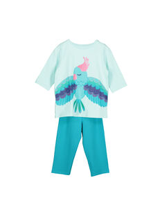 Pyjama en coton fille FEFAPYJPLU / 19SH1194PYJ203