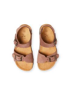 Sandales marrons enfant garçon LGNUMARRON / 21KK3657D0E802
