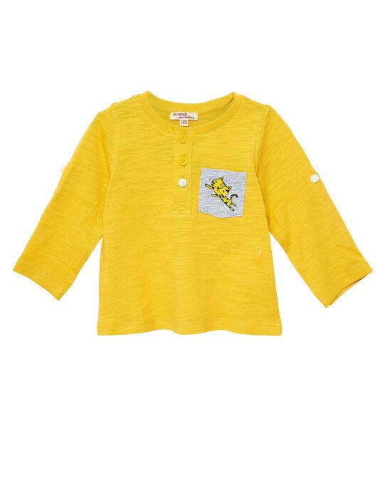 Tee Shirt Manches Longues Jaune  JUJOTUN5 / 20SG1042TMLB114