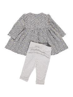 Ensemble robe et legging bébé fille DOU2ENS5 / 18WF05M5ENS099
