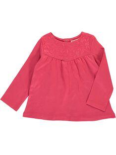 Tee-shirt manches longues bébé fille CIJOTEE2B / 18SG09R2TMLF503