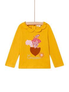 T-shirt safran col pétales bébé fille MISAUBRA / 21WG09P1TML109