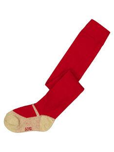 Collant en coton avec motif babies doré sur les pieds. GYINOCOL2 / 19WI09V1COLF521