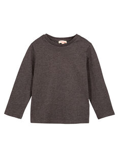 Tshirt Uni GRIS ANTHRACITE CHINE Manches longues GOESTEE4 / 19W902U4D32944