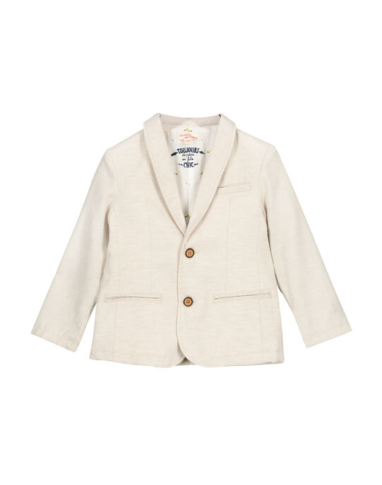 Veste de costume beige garçon FOPOVES / 19S902C1VESI811