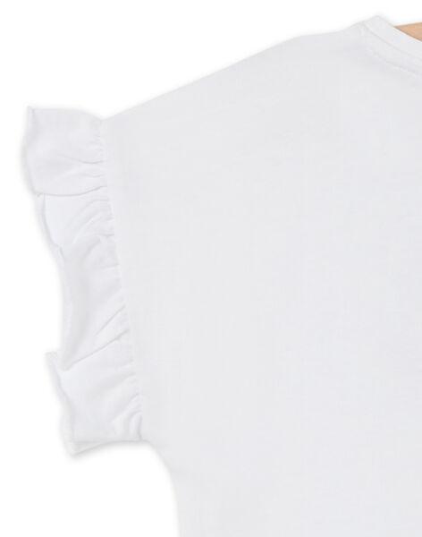 T-shirt manches courtes volanté et girafe en multi-techniques LAJAUTI4 / 21S901O4TMC000
