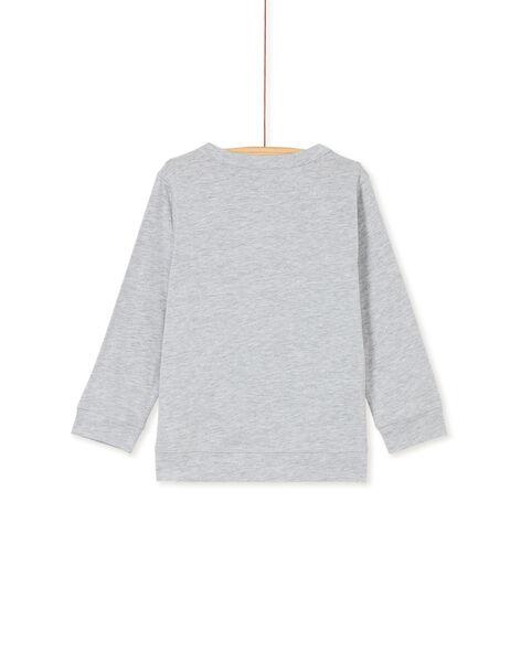 Tee shirt manches courtes girs chiné enfant garçon KOBRITEE1 / 20W902F2TML943