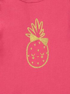Tee-shirt manches courtes bébé fille CIJOTI2 / 18SG09R2TMCF503