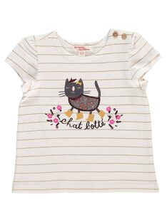Tee-shirt manches courtes bébé fille DICHOTEEEX / 18WG09F1TMC099