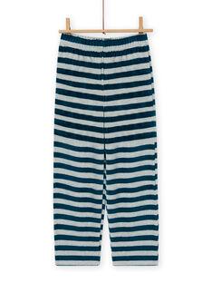 Ensemble pyjama gris motif raton-laveur enfant garçon MEGOPYJRAC / 21WH1286PYJC235