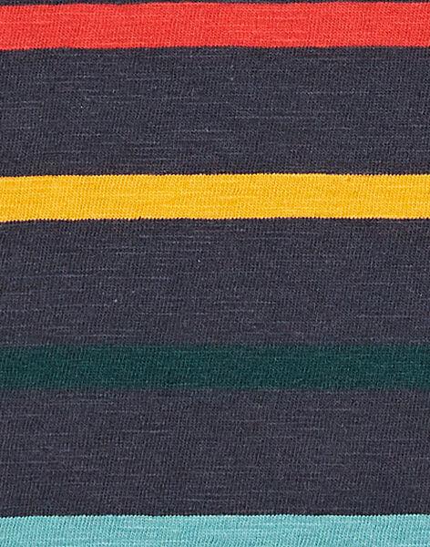 Tee shirt rayé enfant garçon KOBRITEE3 / 20W902F3TMLC204
