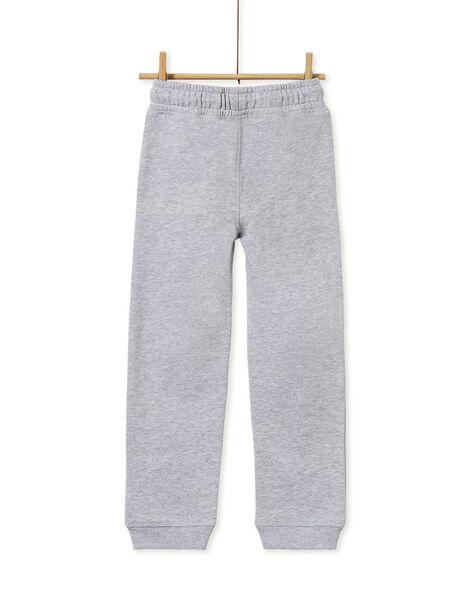 Bas de jogging garçon gris chiné KOJOJOB3EX / 20W90257D2A943