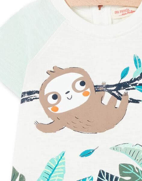 Tee Shirt Manches Courtes Ecru LUVERTI2 / 21SG10Q2TMC001
