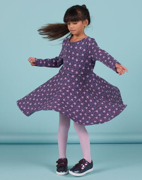 Robe patineuse imprimé fleuri enfant fille MAPLAROB3 / 21W901O3ROBC202