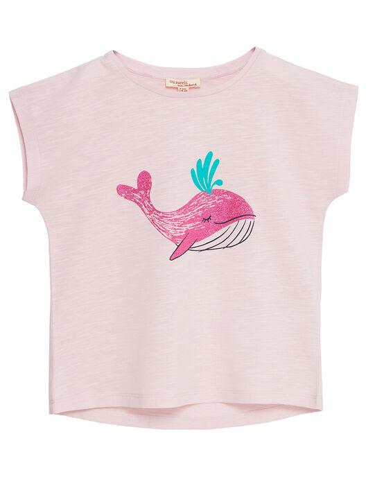T-shirt à manche courte, imprimé baleine  JAJOTI11 / 20S901T4D31301