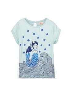 Tee-shirt fantaisie manches courtes fille FANETI1 / 19S901B1TMCC216