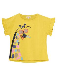 Tee Shirt Manches Courtes Jaune JATROTI1 / 20S901F2TMCB102