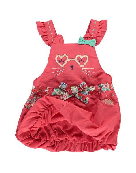 Robe à bretelles bébé fille CIBUROB4 / 18SG09K4ROBF515