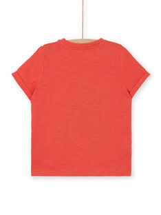 Tee Shirt Manches Courtes Orange LOROUTI / 21S902K1TMCE414