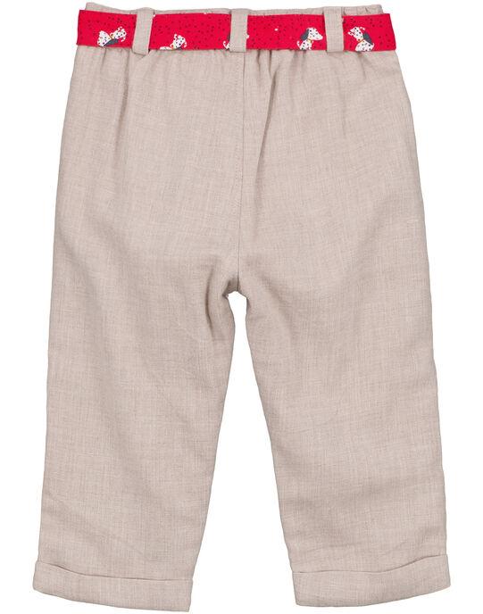 Pantalon Ecru GISANPAN / 19WG09C1PAN007