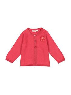 Gilet rose bébé fille FIJOCAR2 / 19SG0932CAR308