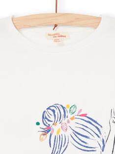 Tee Shirt Manches Courtes Ecru LANAUTI2 / 21S901P1TMC001