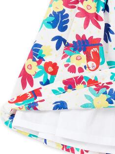 Robe portefeuille imprimée bébé fille JIMARROB1 / 20SG09P1ROB000