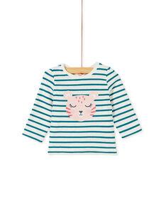 Tee-shirt manche longue réversible bébé fille KIBRITEE / 20WG09F1TML001