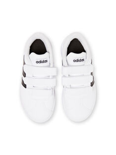 Baskets blanches et noires Adidas enfant garçon JGDB1837 / 20SK36Y2D35000