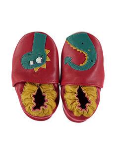 Chausson dragon cuir souple rouge bébé garçon GNGDRAGON / 19WK38Z3D3S050