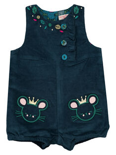 Barboteuse layette fille turquoise. GITUSAL / 19WG09Q1SAC714