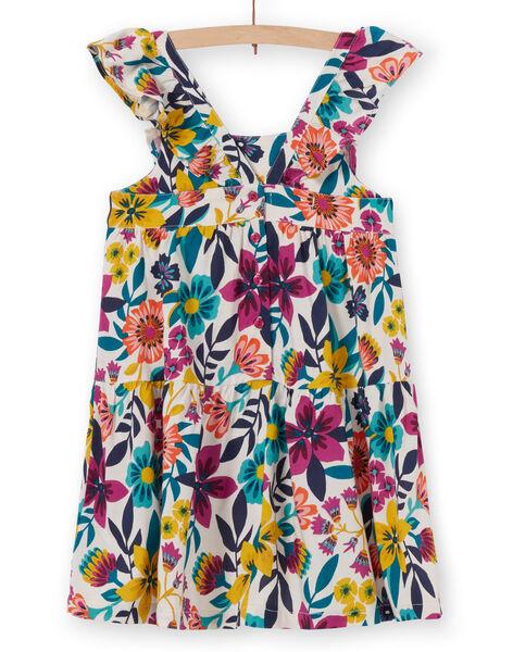 Robe à fines bretelles volantées, imprimé floral LAMUMROB3 / 21S901Z1ROB009