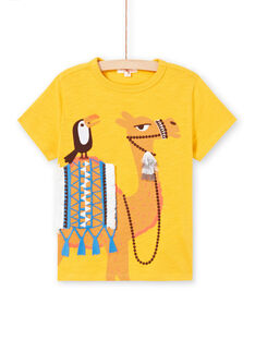 Tee Shirt Manches Courtes Jaune  LOTERTI2 / 21S902V5TMCB114