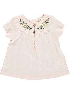 Tee-shirt manches courtes bébé fille CICETI / 18SG09M1TMC307