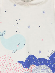 Tee-shirt manches courtes bébé fille FINEBRA / 19SG09B1BRA000