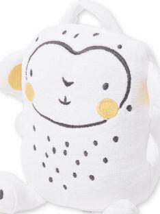 Doudou naissance blanc forme singe LOU1BOI / 21SF42H5JOU000