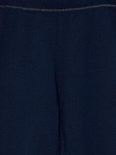 Legging uni bleu marine enfant fille JYAESLEG2 / 20SI0163D26070