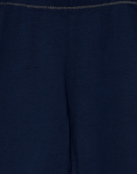 Legging fille marine  JYAESLEG2 / 20SI0163D26070