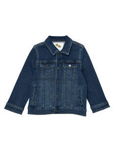 Veste en jean garçon en denim stretch JOGROVES / 20S902I1VESP274