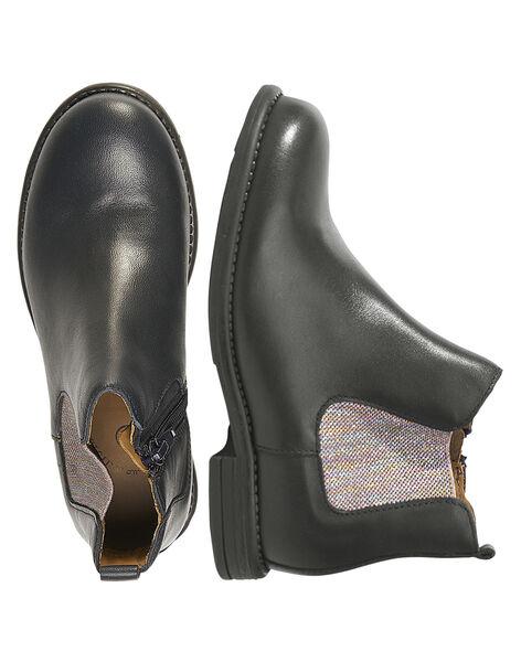 Chelsea boots cuir mariine enfant fille  GFBOOTVIA / 19WK35I4D0D070