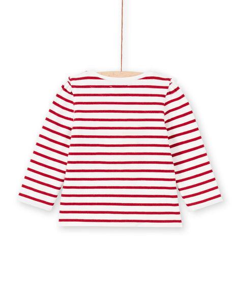 T-shirt réversible à rayures et imprimé cœurs bébé fille MIMIXTEE / 21WG09J1TML001