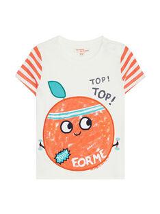 Tee Shirt Manches Courtes Ecru JUVITEEEX / 20SG10D1TMC001