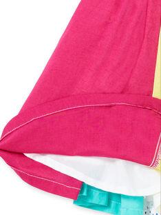 Robe à bretelles patchwork coloré bébé fille JIMARROB2 / 20SG09P2ROB000