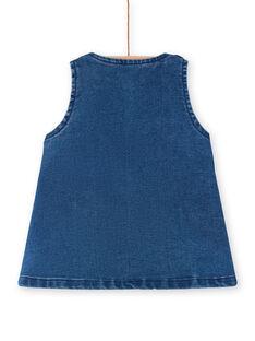 Robe salopette en jean animation lapin bébé fille LIHAROB2 / 21SG09X3ROBP270